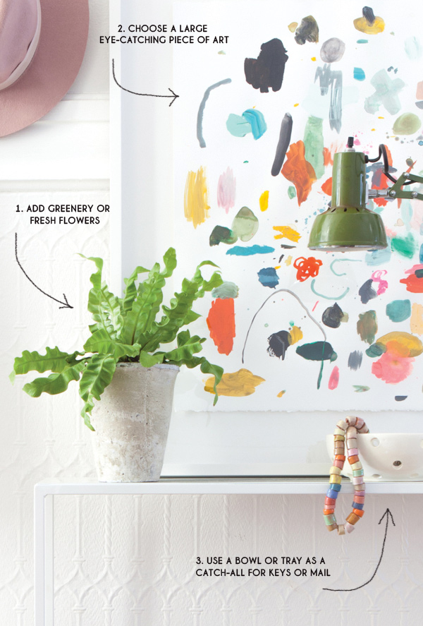 4 Tips for an Entryway Makeover | Oh Happy Day!