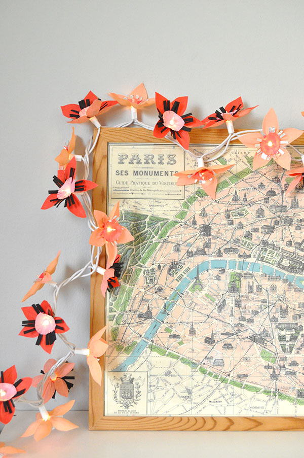 Paper Flower Lights Garland | Oh Happy Day!