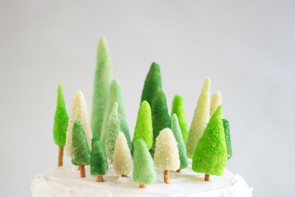 Marzipan Tree Cake Decorations DIY