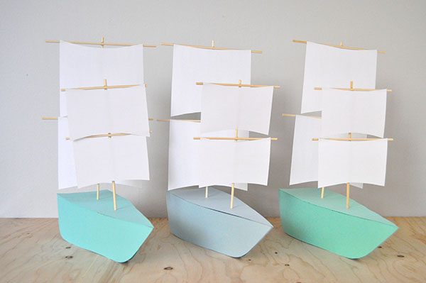 DIY Paper Boat Decorations | Oh Happy Day!