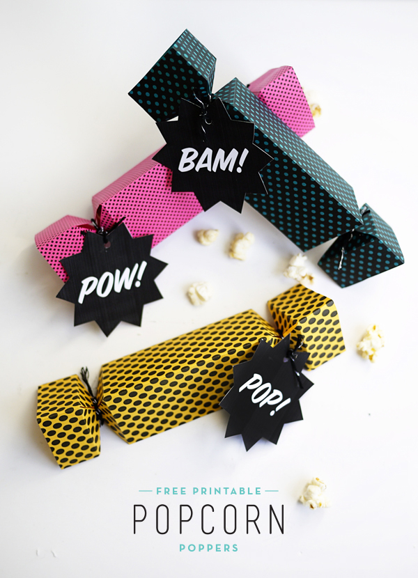 Printable Popcorn Poppers | Oh Happy Day!