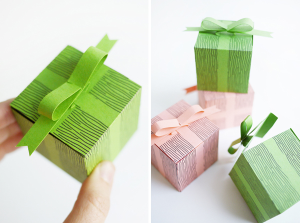 Faux imprimable Coffrets cadeaux Bow |  Oh Happy Day!