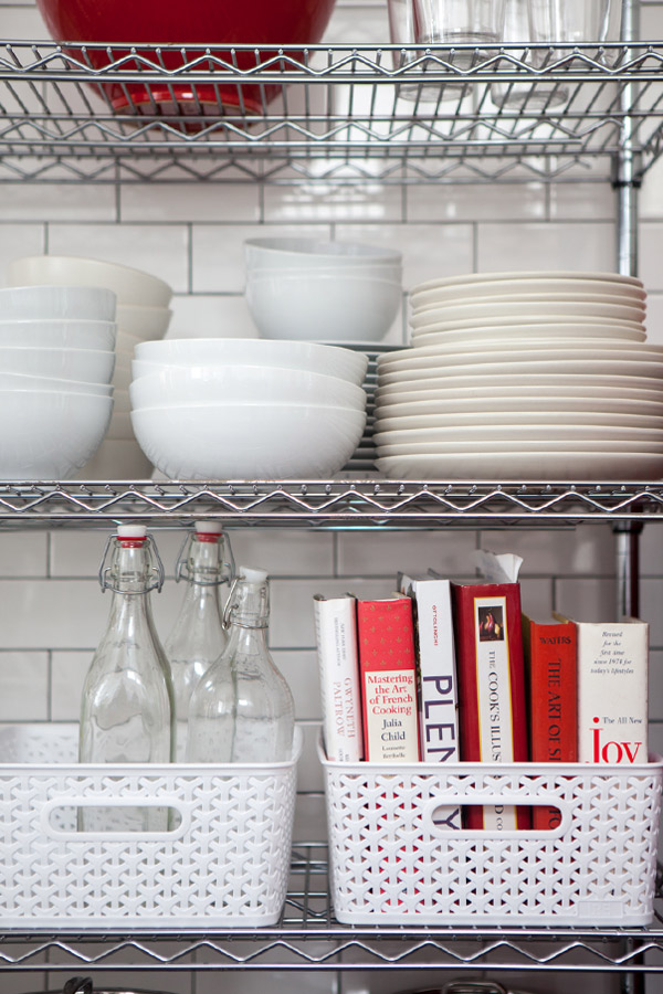 6 Tips for Open Shelf Organization | Oh Happy Day!