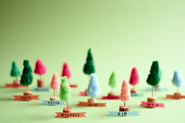 Pom Pom Mini-Trees DIY | Oh Happy Day!