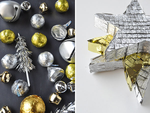 Silver & Gold Star Piñatas | Oh Happy Day!duo