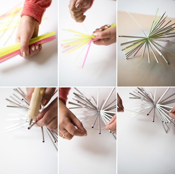 New Year's Straw Starburst Garland DIY | Oh Happy Day!