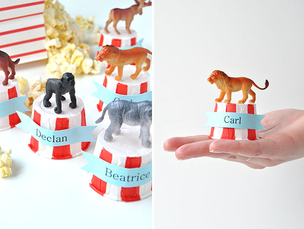 Circus Place Cards | Oh Happy Day!