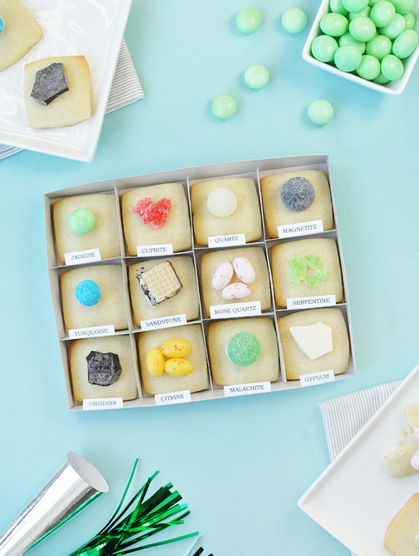 DIY Rock & Mineral Cookies | Oh Happy Day!