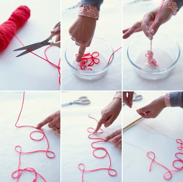 String Words Wall-Hanging DIY