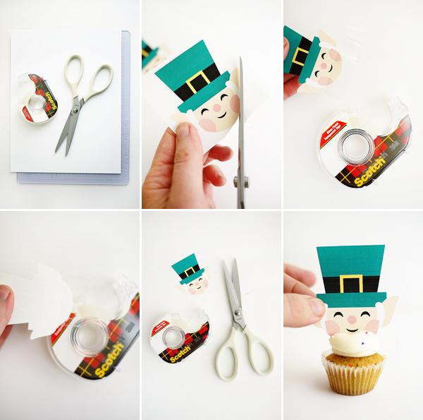 Printable Leprechaun Mini-Cupcake Toppers | Oh Happy Day!
