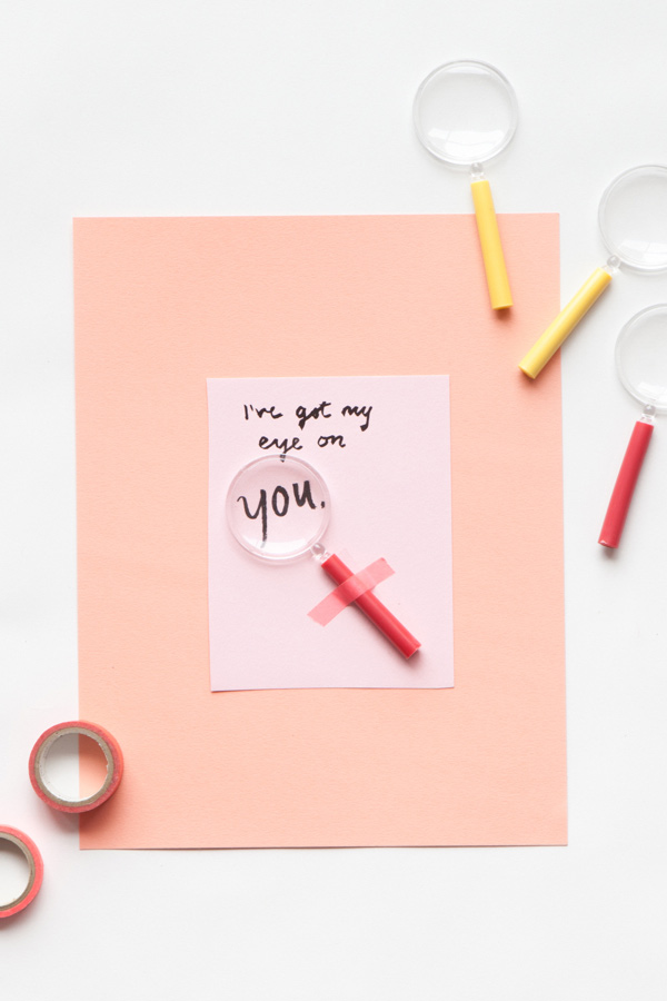Magnifying Glass Valentine | 14 Awesome Candy-Free Valentines | Oh Happy Day