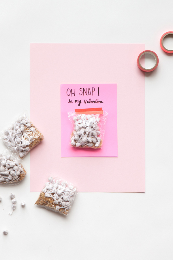 Snap Valentine | 14 Awesome Candy-Free Valentines | Oh Happy Day
