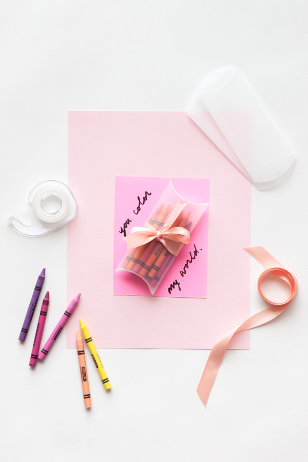 Crayon Valentine | 14 Awesome Candy-Free Valentines | Oh Happy Day