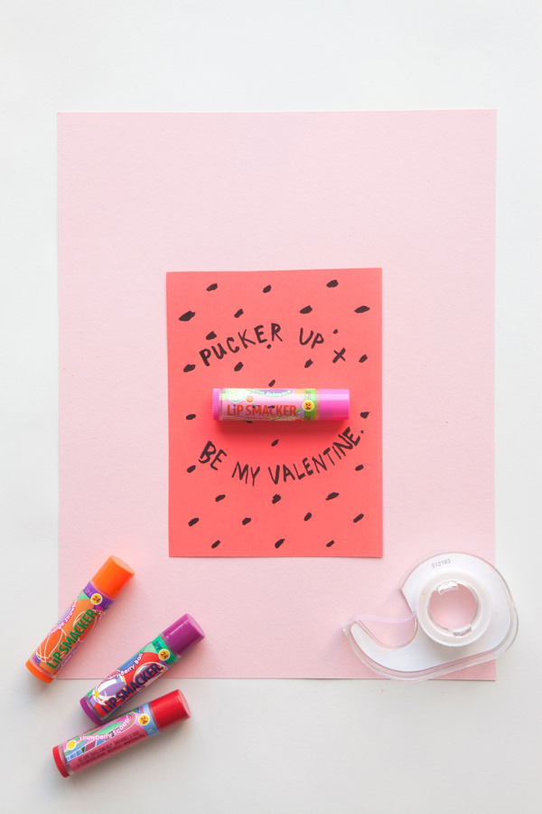 Lip Smackers Valentine | 14 Awesome Candy-Free Valentines | Oh Happy Day