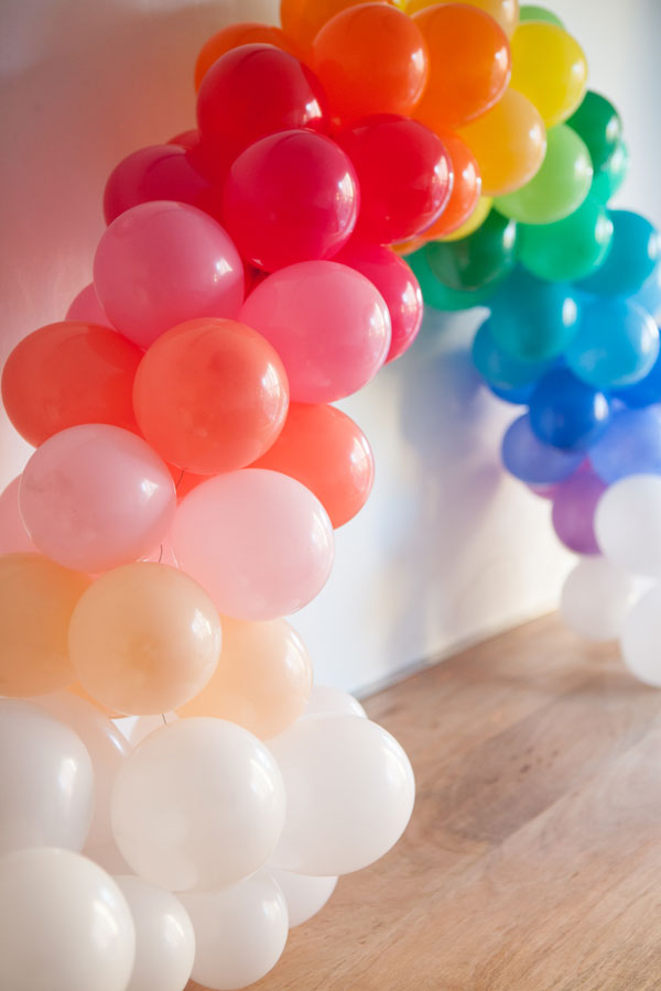 Mini Rainbow Balloon Arch DIY | Oh Happy Day!