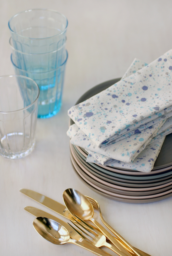 Splatter Paint Napkins | Oh Happy Day!