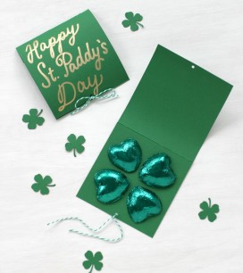 Chocolate Shamrock Cards | Oh Happy Day!