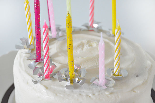 Foil Birthday Candle Holders | Oh Happy Day!