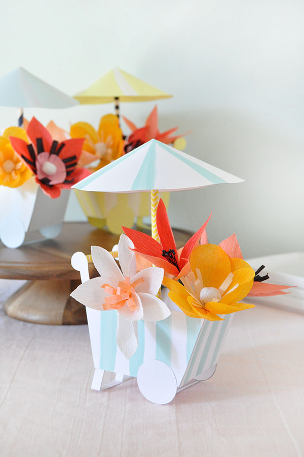 Paper DIY Flower panier |  Oh Happy Day!