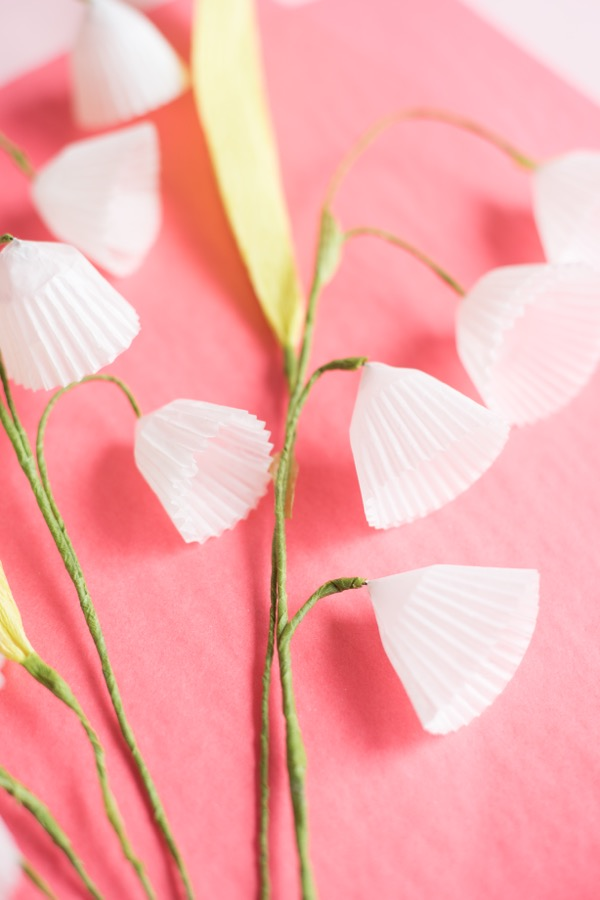 Baking Cups Lily of the Valley DIY | Oh Happy Day!