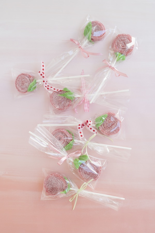 Flower Candy Lollipop Favor DIY