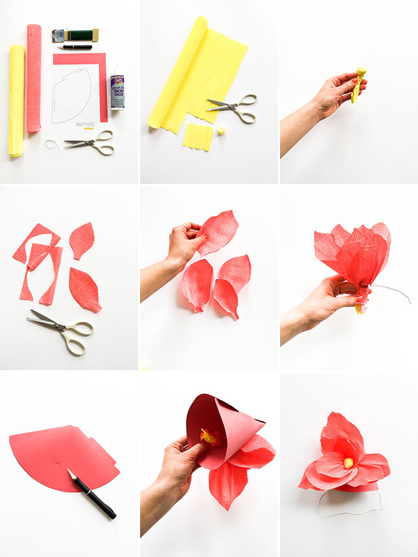 Giant Paper Flower Party Hats | Oh Happy Day!