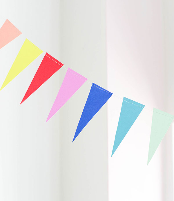 Rainbow Triangle Bunting DIY | Oh Happy Day!
