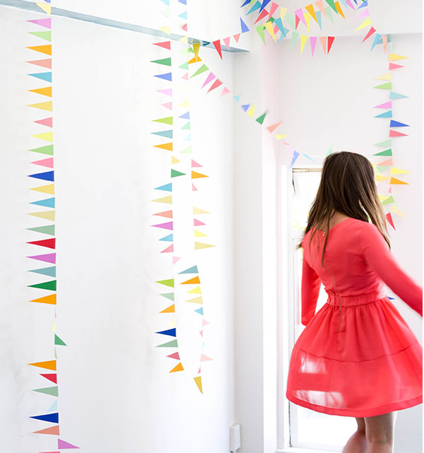 Rainbow Triangle Bunting DIY | Oh Happy Day!