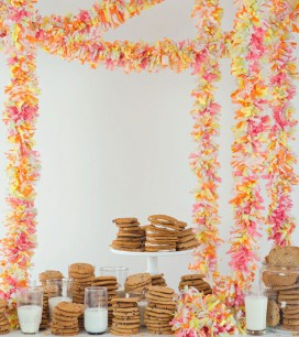 Tissue Paper Fringe Garland | Oh Happy Day!
