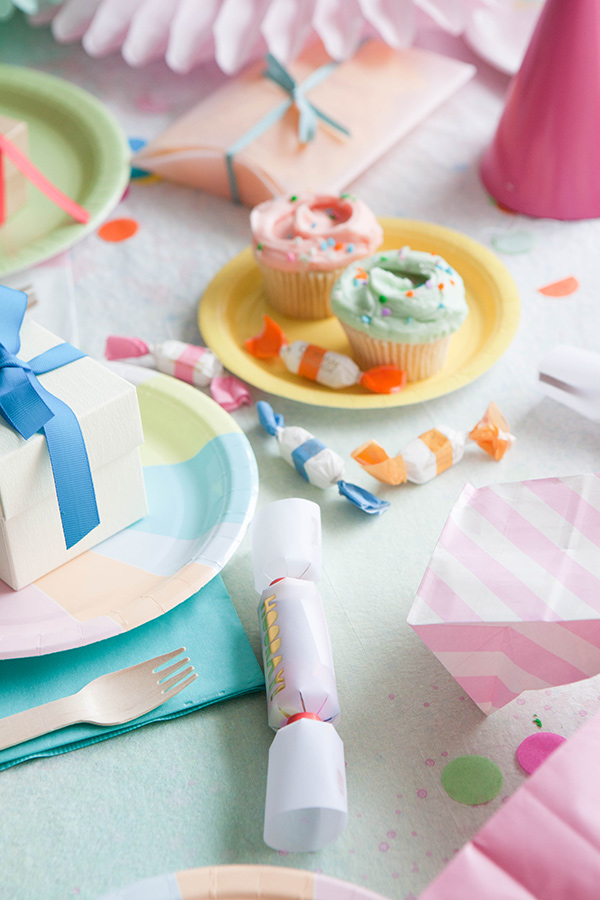 Watercolor Tablecloth DIY | Oh Happy Day!