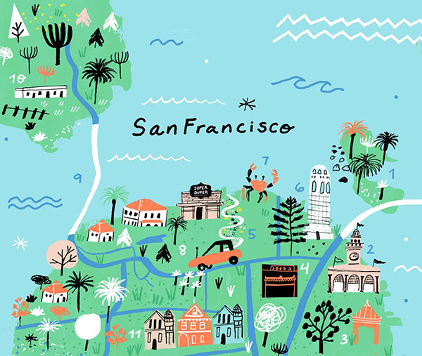 San Francisco 3 Hour Tour – San Francisco Tourist Map