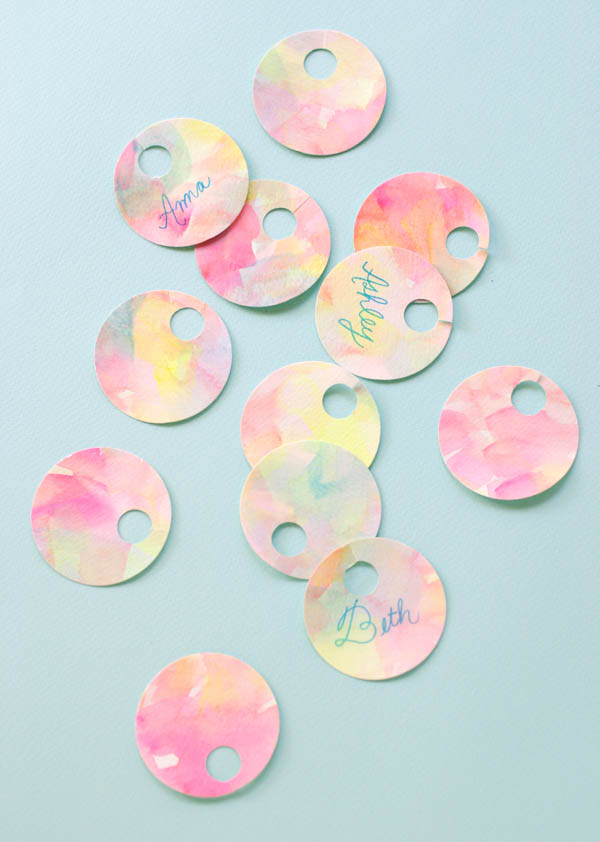 Painterly Drink Tags | Oh Happy Day!