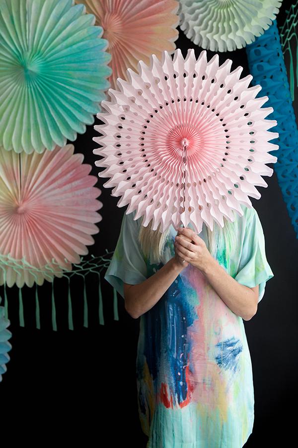 Watercolor Fans DIY | Oh Happy Day!
