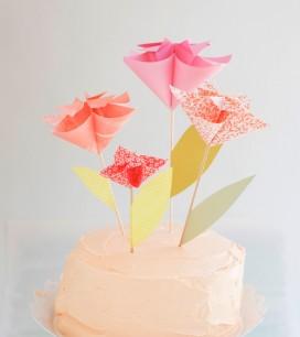 Kusudama Flower Cake Topper DIY