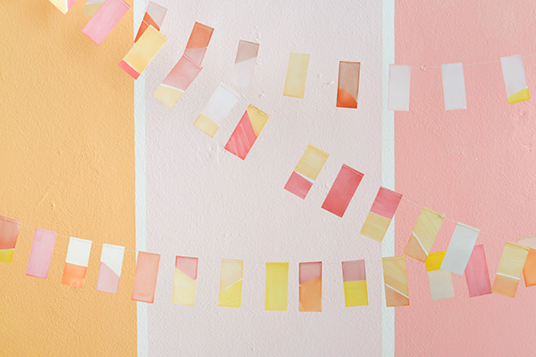 Sunset Colorblock Flag Garland | Oh Happy Day!