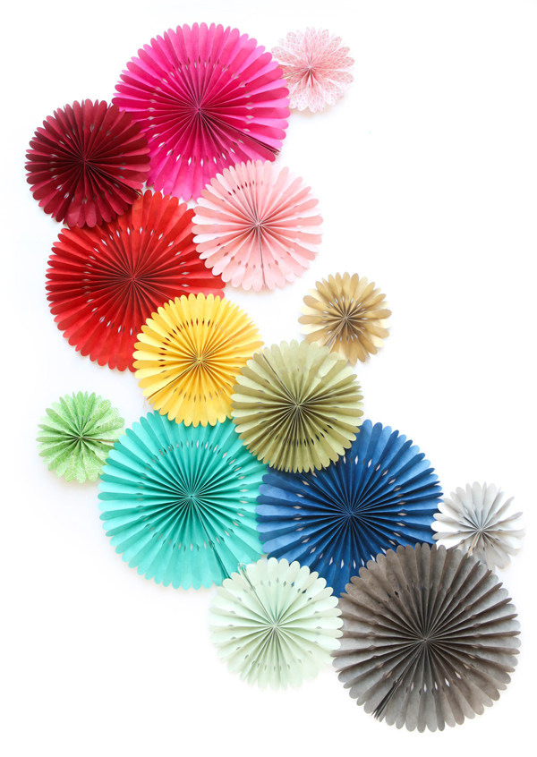 Handmade Paper Fans | Oh Happy Day!
