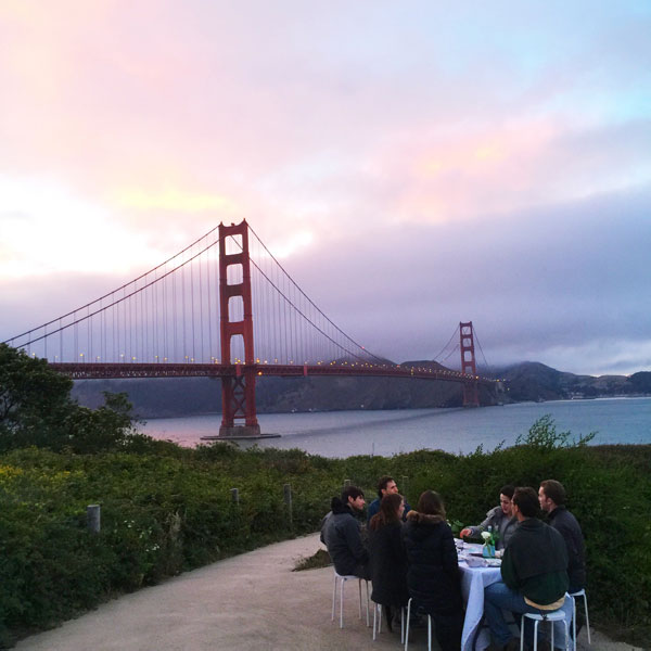 Pop Up Dinner Party by the Golden Gate Bridge | Oh Happy Day!