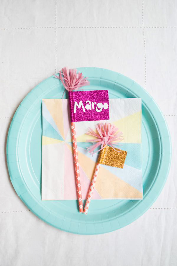 Sparkly Flags Cake Topper DIY | Oh Happy Day!