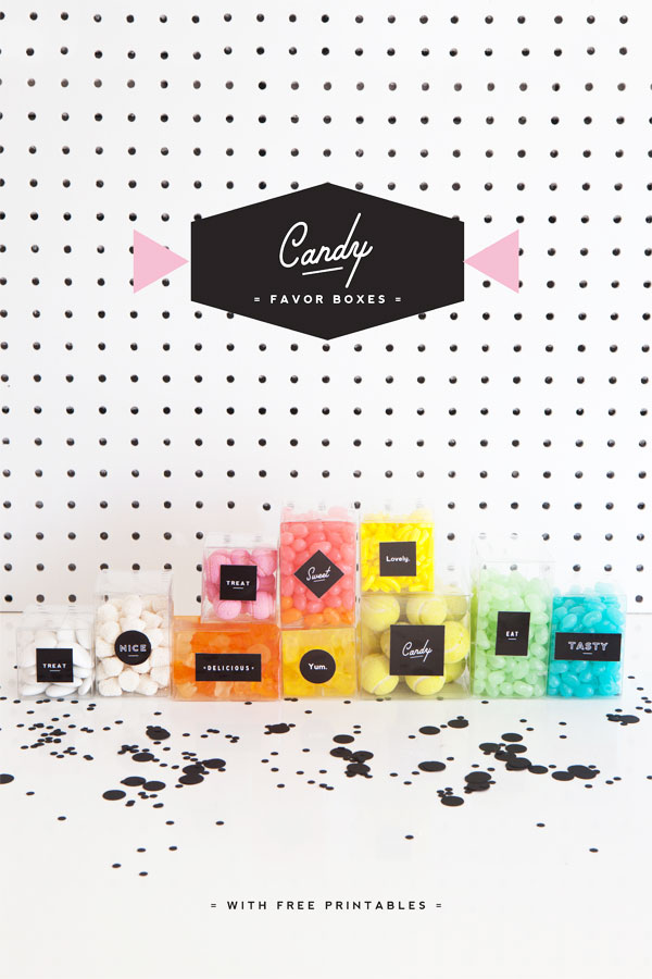 Candy Favor Boxes | Oh Happy Day!
