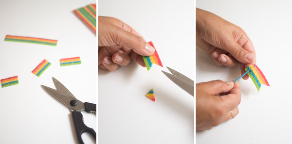 Edible Rainbow Flag Cupcake Toppers DIY | Oh Happy Day!