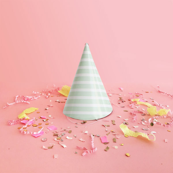 Striped Party Hats | Oh Happy Day!