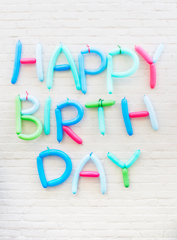 Balloon Letters DIY