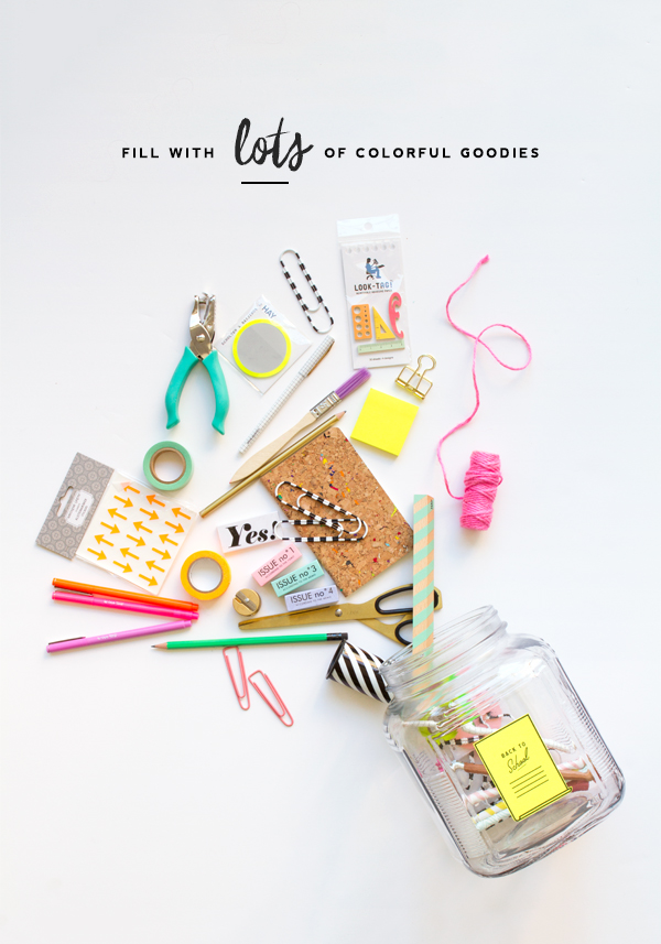 Back to School Gift Jar DIY | Oh Happy Day!