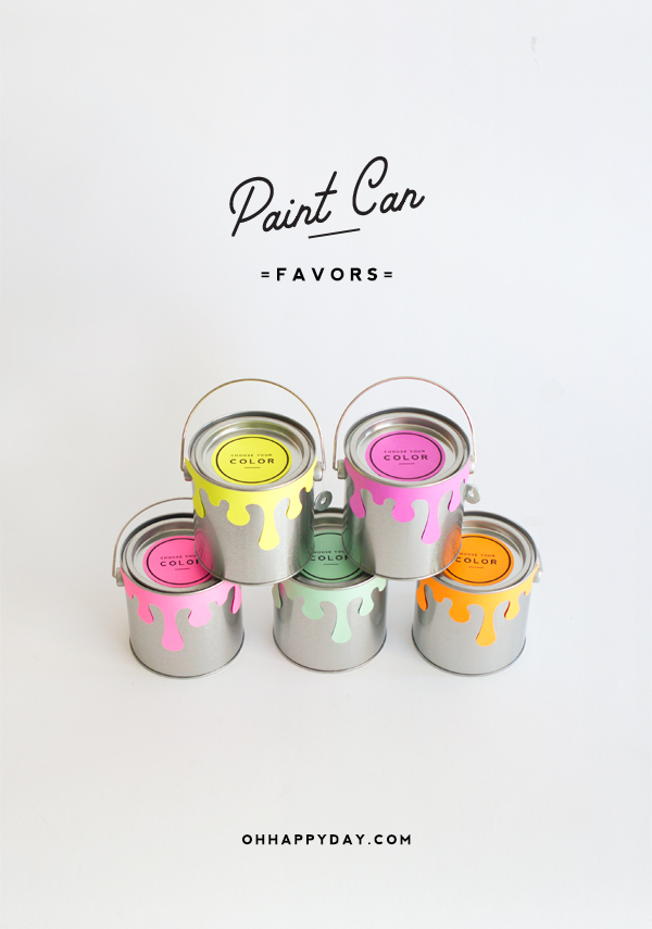 Paint Can Favors | Oh Happy Day!
