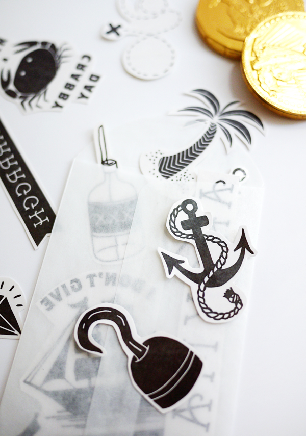 Printable Temporary Pirate Tattoos | Oh Happy Day!