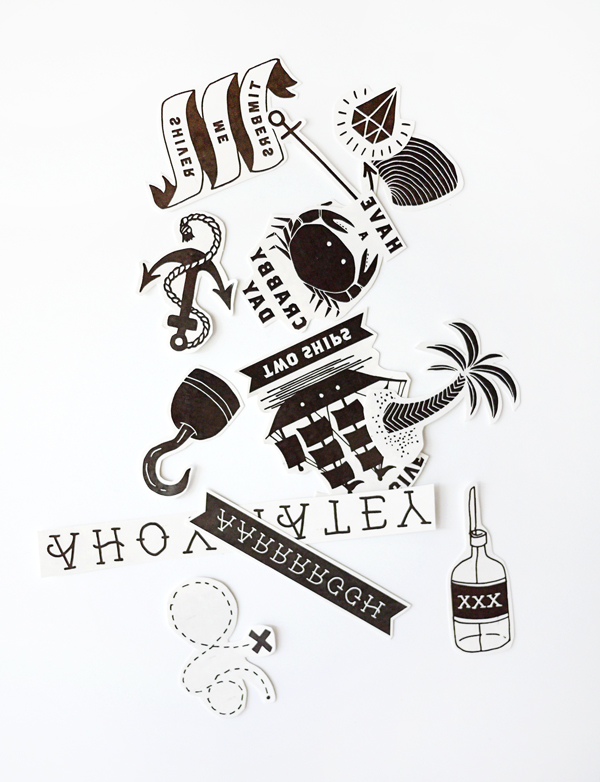 image about Printable Tattoos titled Printable Momentary Pirate Tattoos
