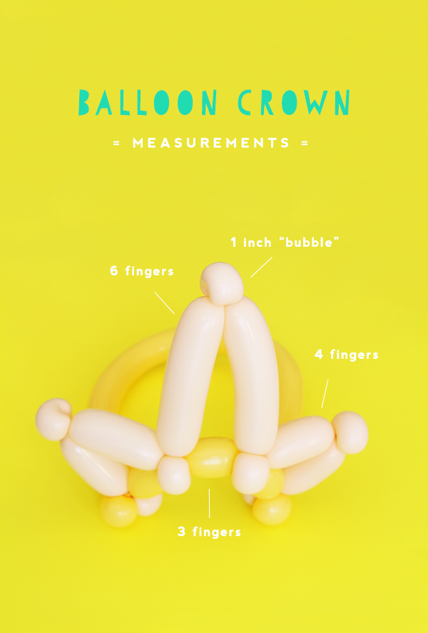 Balloon Crown DIY Oh Happy Day