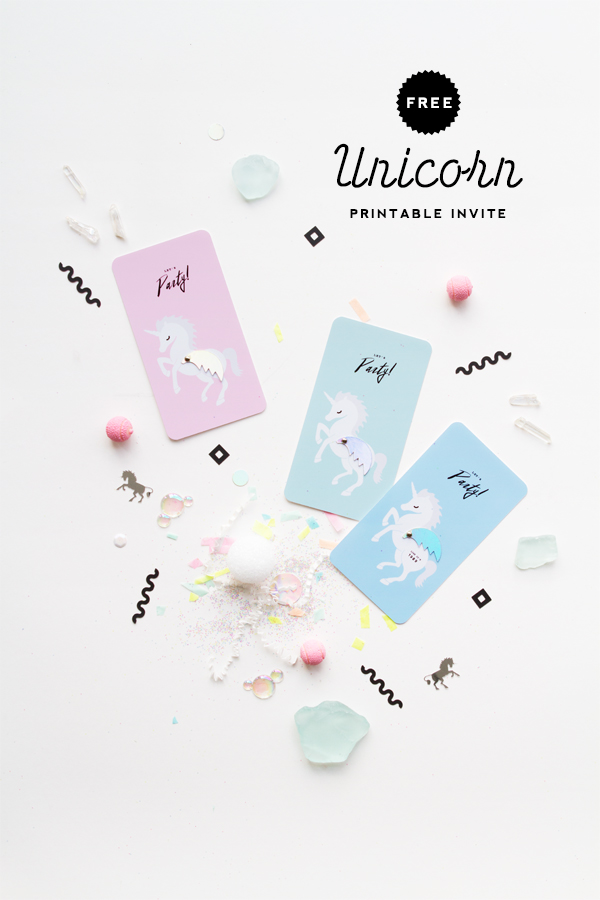 photo about Free Printable Unicorn Invitations called Cost-free Printable Unicorn Invitation