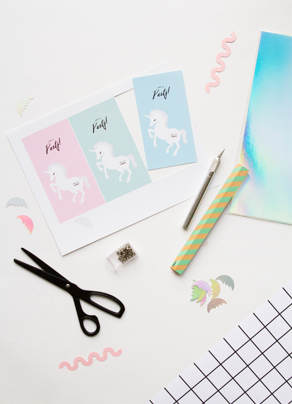 Unicorn Invitation Printable | Oh Happy Day!