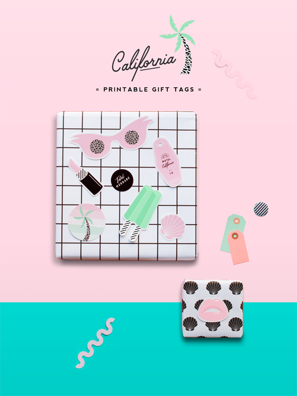 California Printable Gift Tags | Oh Happy Day!
